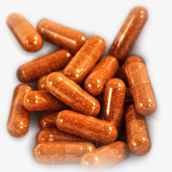Orange Capsules Grey Background